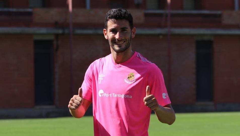 Carlos Albarrán, feliç després del seu retorn als entrenaments.