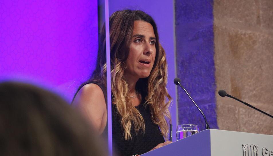 La portaveu del Govern, Patrícia Plaja, a la roda de premsa posterior al Consell Executiu.