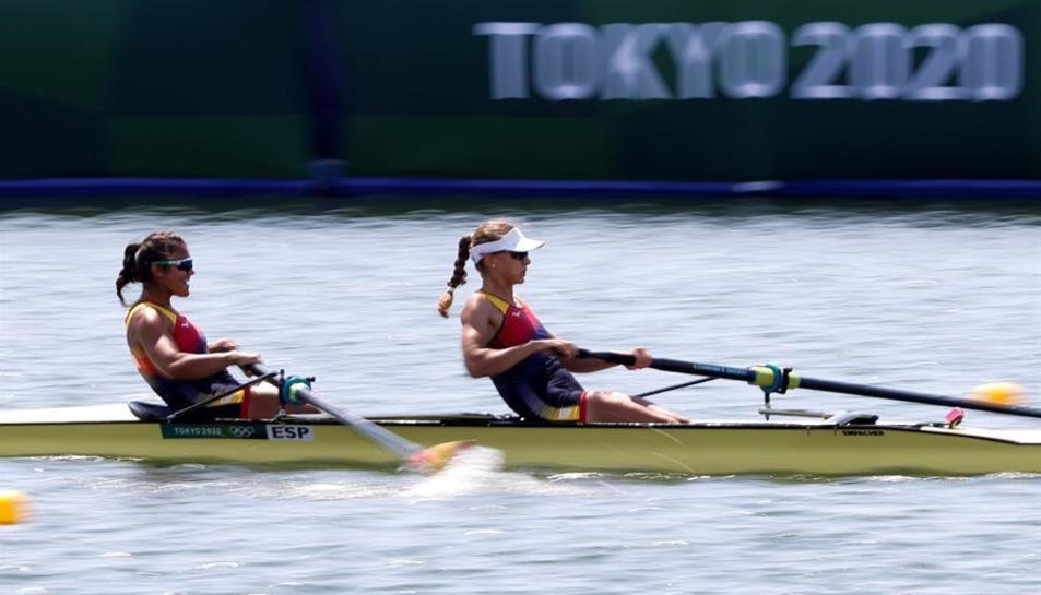 Imatge de Cid i Díaz durant la disputa dels quarts de final.