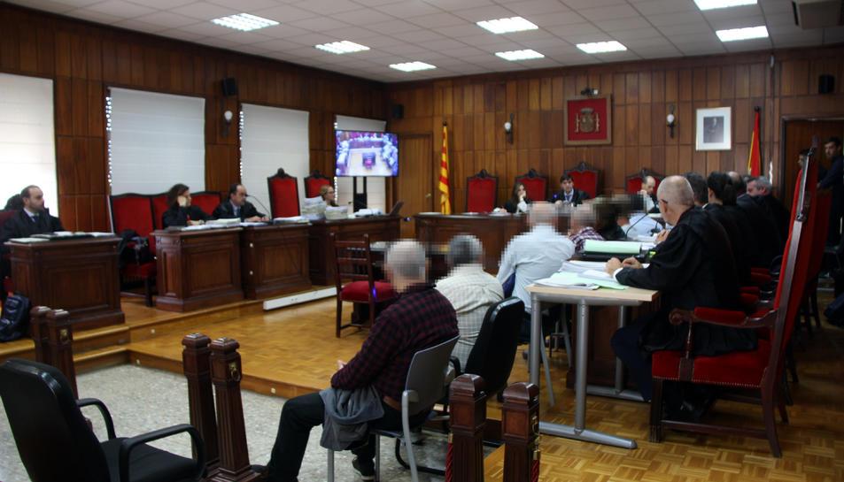 La sala de vistes de l'Audiència de Tarragona on es va fer el judici als membres d'una xarxa d'abús de menors i pornografia infantil destapada a Tortosa.