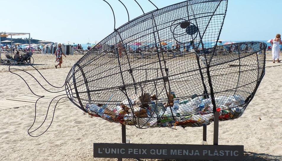 Imatge del peix que 'menja' plàstic a Salou
