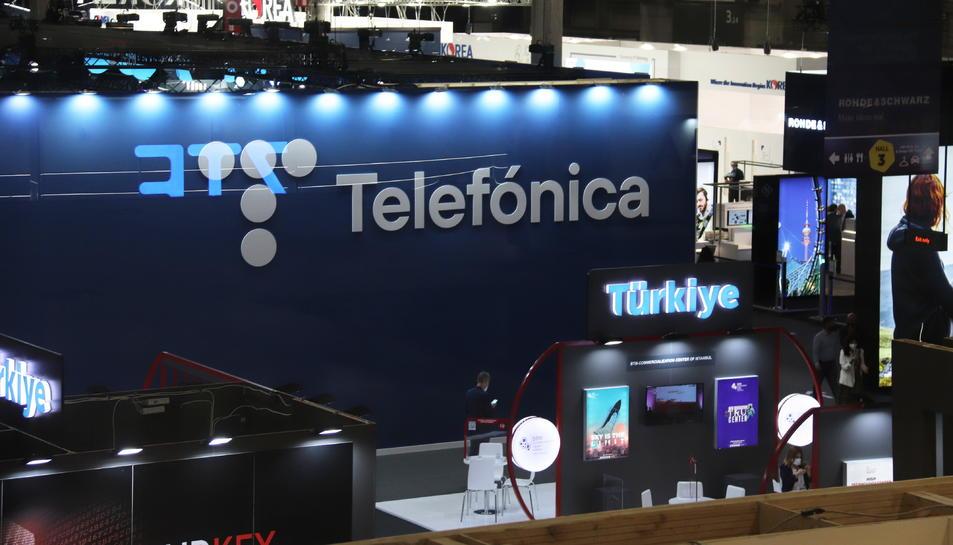 Stand de Telefónica al MWC de Barcelona