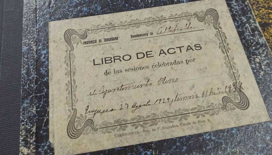 Imatge d'alguns dels Llibres d'Actes del Ple Municipal del 1929 que han estat digitalitzats.
