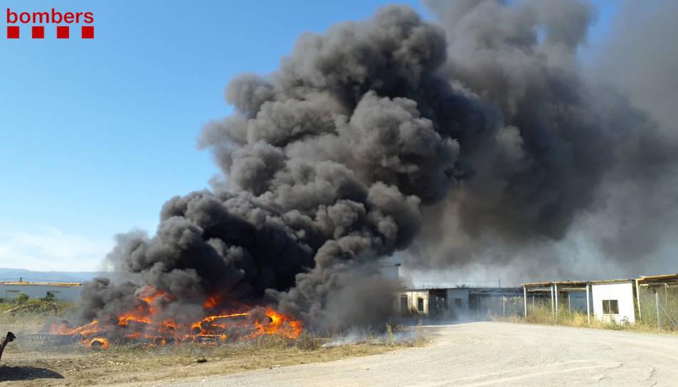 Incendi a l'edifici del 112 a Reus