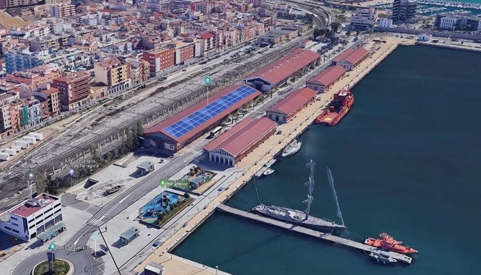Imatge del projecte de les plaques fotovoltaiques al Port de Tarragona.