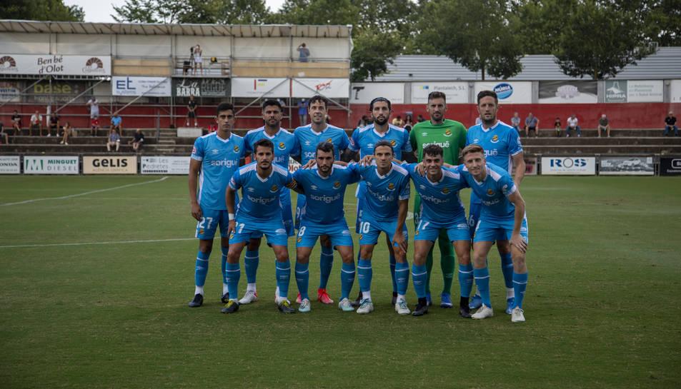 Aquest és l'onze inicial pel qual va apostar Raúl Agné en l'últim amistós de pretemporada, aquest passat diumenge a Olot (0-1).