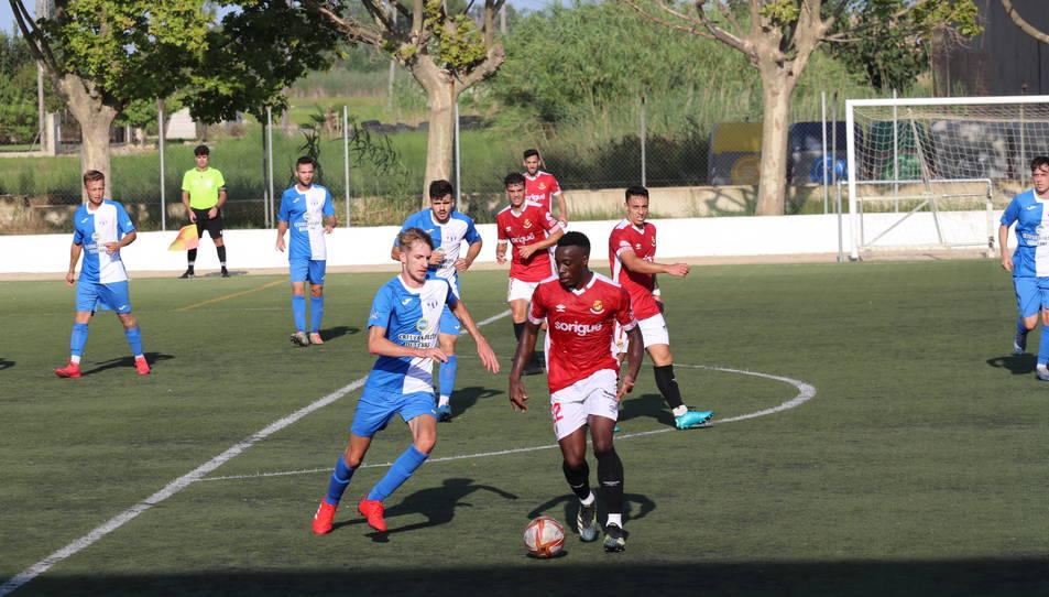 Jannick Buyla, durant La Cava-Nàstic (0-5).