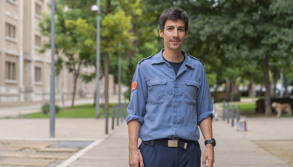 L'expert en incendis forestals, el sotsinspector dels GRAF Jordi Castellví.