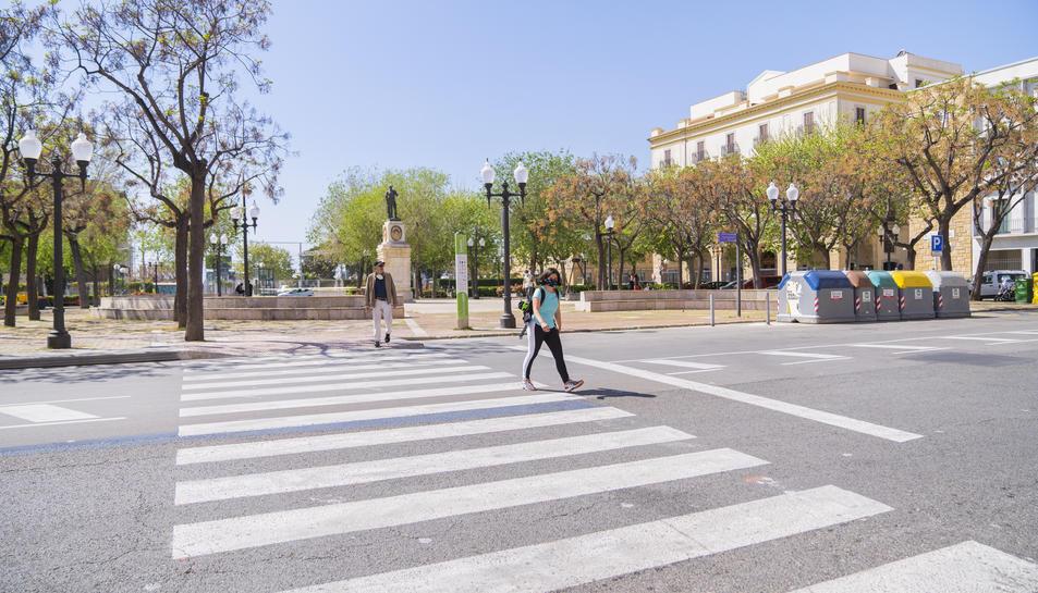 Imatge de la plaça dels Carros, que experimentarà un canvi amb el projecte.