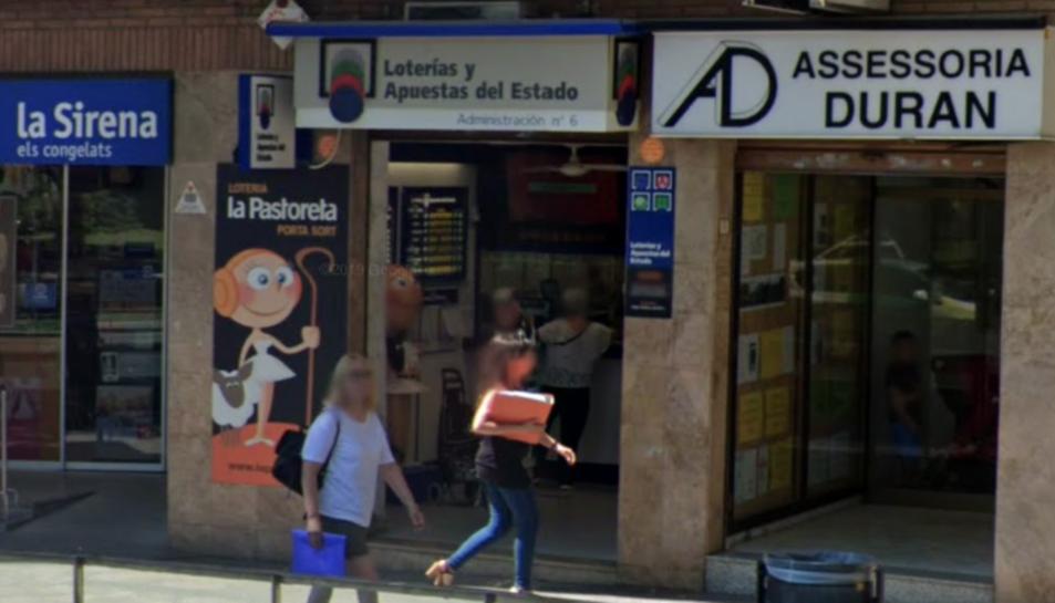 Imatge d'arxiu de l'administració de loteria de la Pastoreta de Reus.