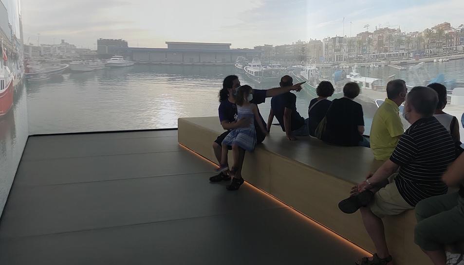 Una de les sales del nou Museu del Port de Tarragona.