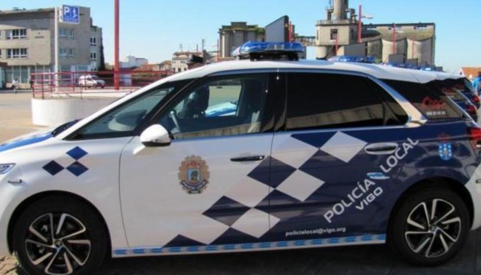Imatge d'arxiu d'un vehicle de la Policia Local de Vigo.
