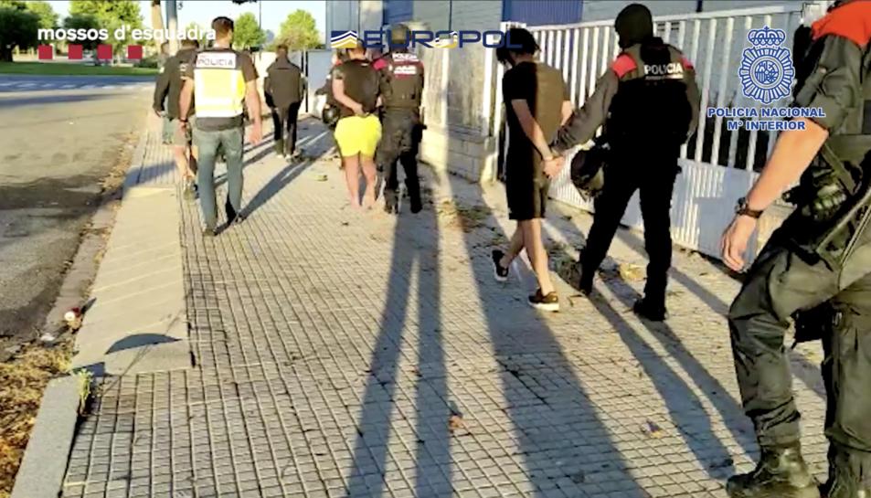 Imatge de les detencions.