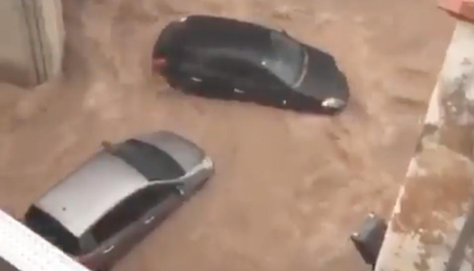 Imatge de les inundacions.