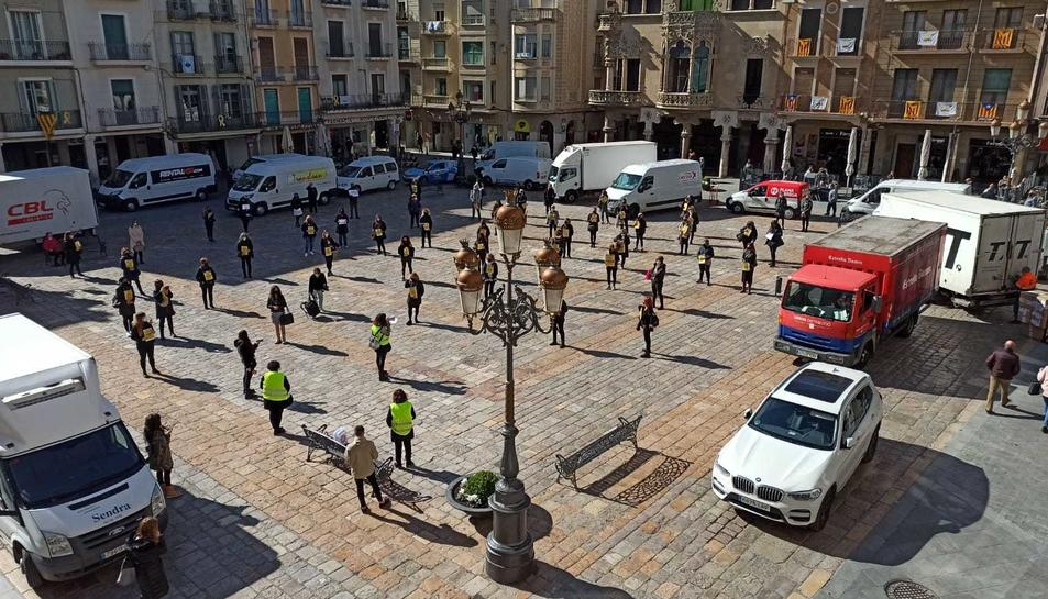Imatge d'una de les mobilitzacions del sector al Mercadal.