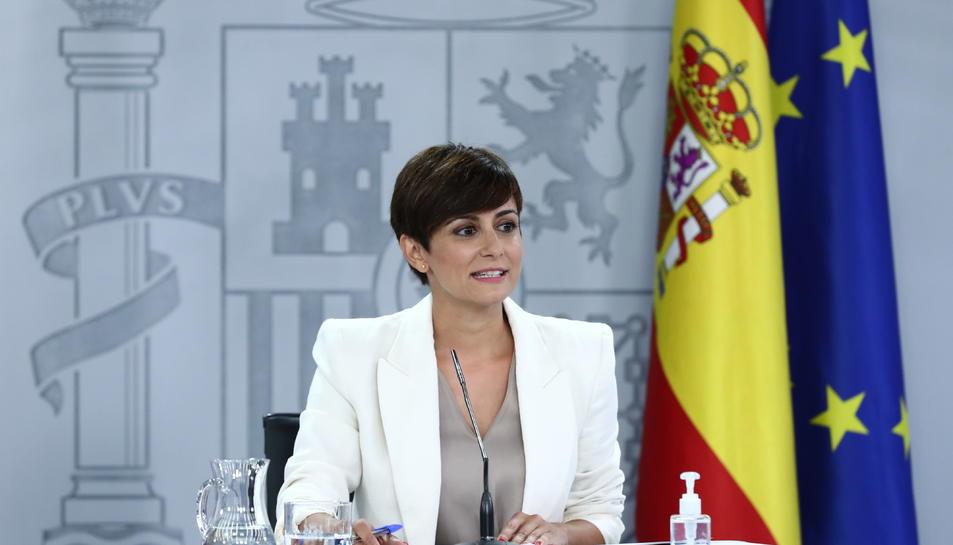 La portaveu del govern espanyol i ministra de Política Territorial, Isabel Rodríguez.