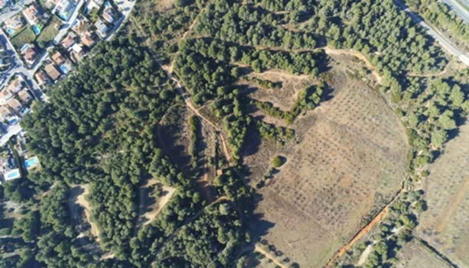 Imatge aèria del sector sud de Miramar.