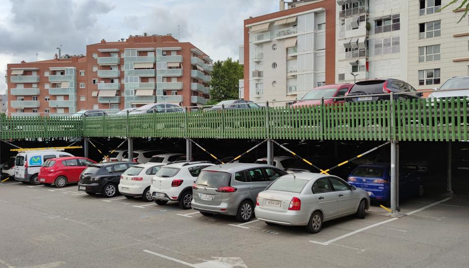 Imatge de l'aparcament situat al carrer Francesc Bastos, un dels cinc aparcaments que tenen llista d'espera.