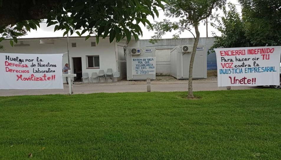 Les instal·lacions de Villablanca Serveis Assistencials on s'ha realitzat la tancada.