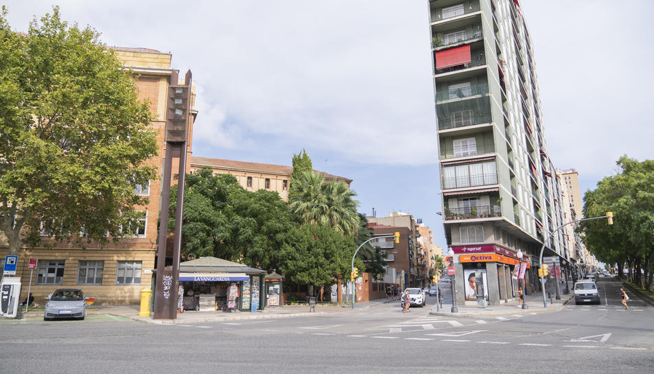 El carril bici de la plaça Imperial Tàrraco discorrerà des de l'avinguda Marquès de Montoliu i arribarà fins a Pere Martell.