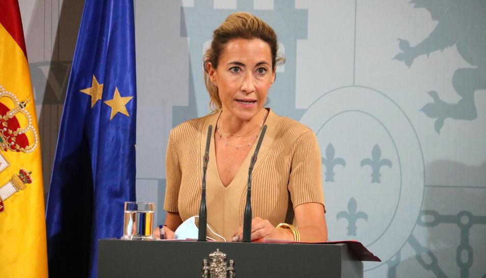 La ministra de Transports, Mobilitat i Agenda Urbana, Raquel Sánchez.