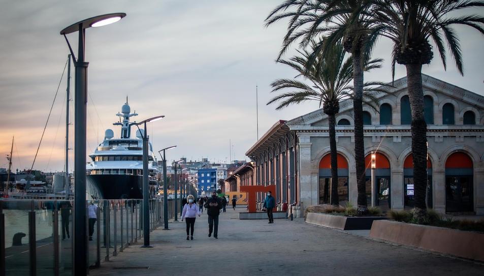 El Moll de Costa del Port de Tarragona.