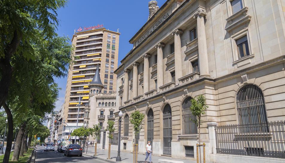 Imatge d'arxiu de l'exterior del Banc d'Espanya.