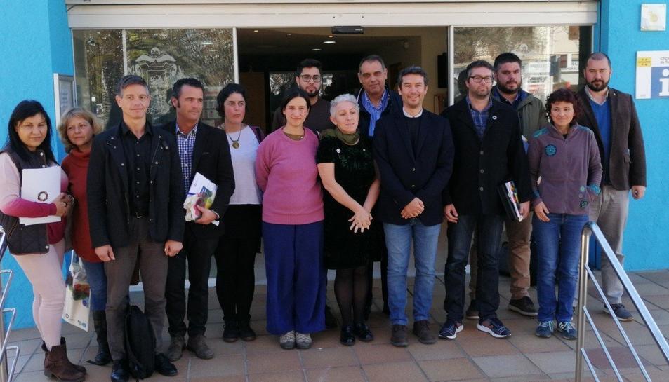 Imatge dels regidors que van participar a la trobada.