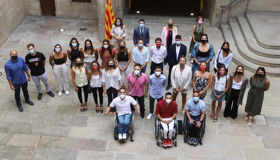 Tots els esportistes catalans que van aconseguir medalla.