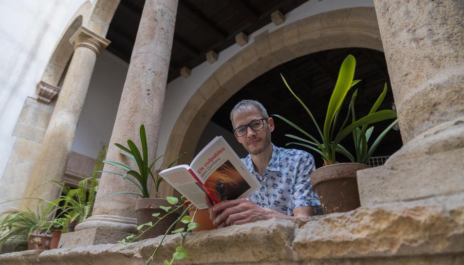 L'escriptor Marc Quintana, aquest dimarts, a la Casa de les Lletres de Tarragona.