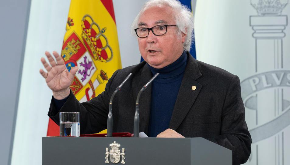 El ministre d'Universitats Manuel Castells.