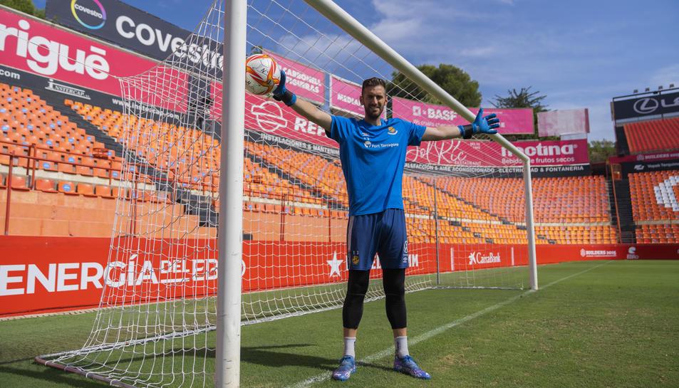 Manu García ha aconseguit deixar a zero la porteria en els tres primers partits de la lliga i apel·la als aficionats granes a seguir animant com en els darrers duels.
