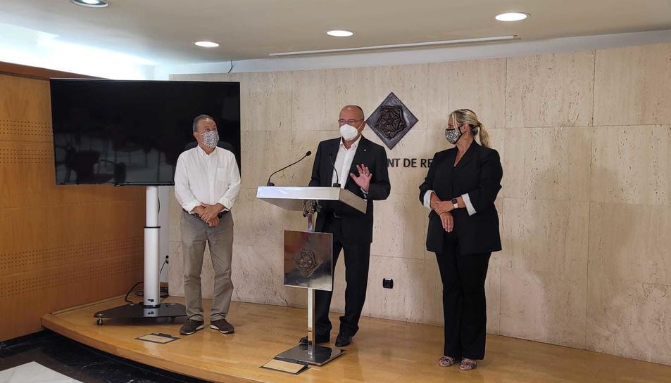 Hipòlit Monseny, Carles Pellicer i Montserrat Caelles.