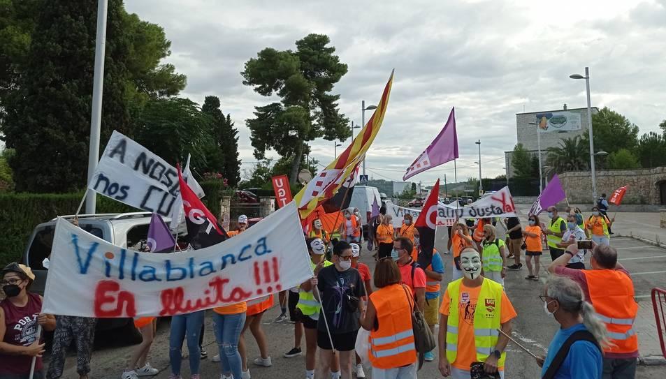 Mobilització dels treballadors de Villablanca.