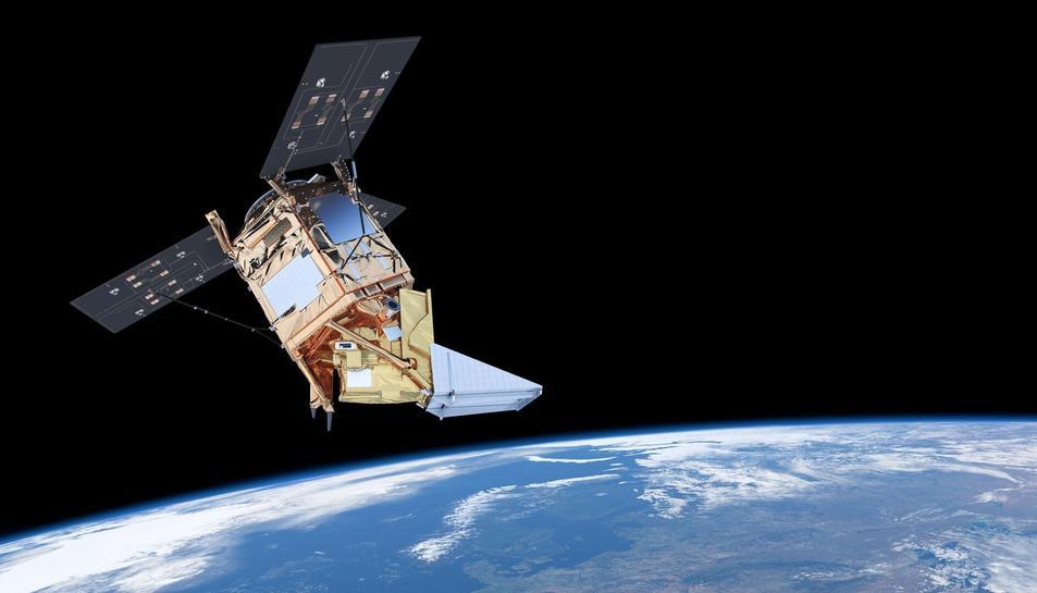 Imatge d'arxiu de la missió Sentinel-5P de l'ESA encarregada de l'observació de l'ozó.