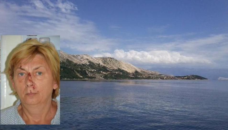 Imatge de la dona trobada en una illa croata.