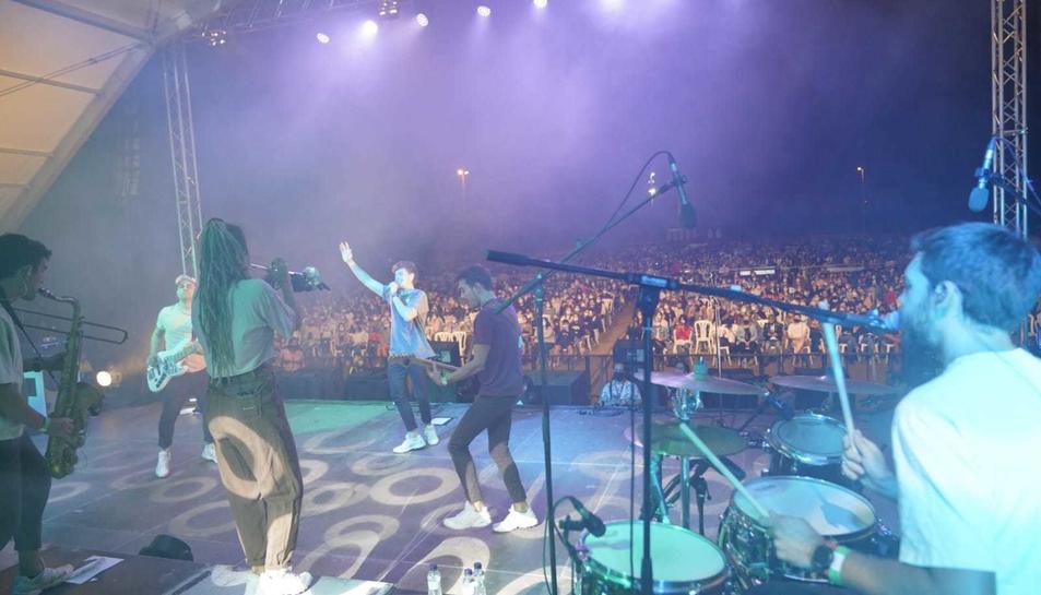 Un dels moments del concert de Miki Núñez.