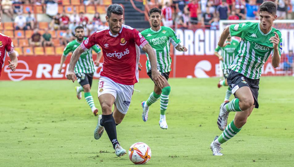Pedro Del Campo, durant el Nàstic-Betis Deportivo.