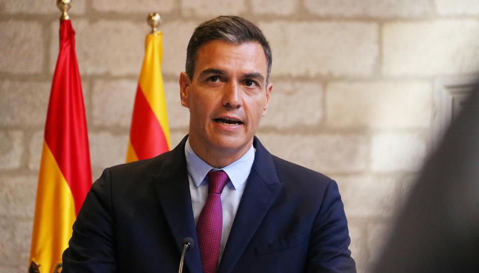 Primer pla del president del govern espanyol, Pedro Sánchez.