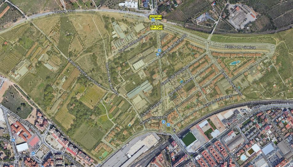 Imatge dels límits del barri de La Mineta.