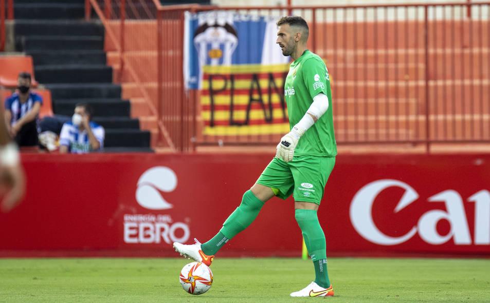 Manu García, durant, la victòria del Nàstic de divendres contra l'Alcoyano (2-1).