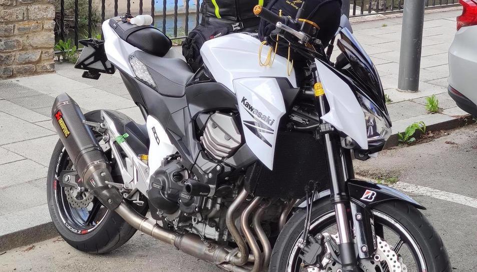 Una de les motos robades la nit de dilluns.