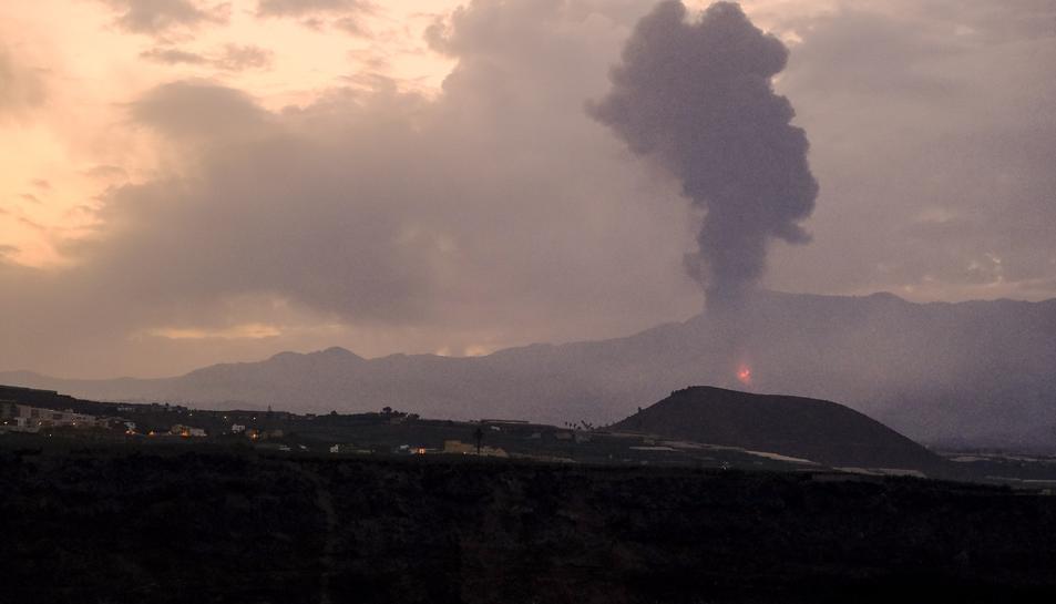 Imatge de l'erupció aquest matí.