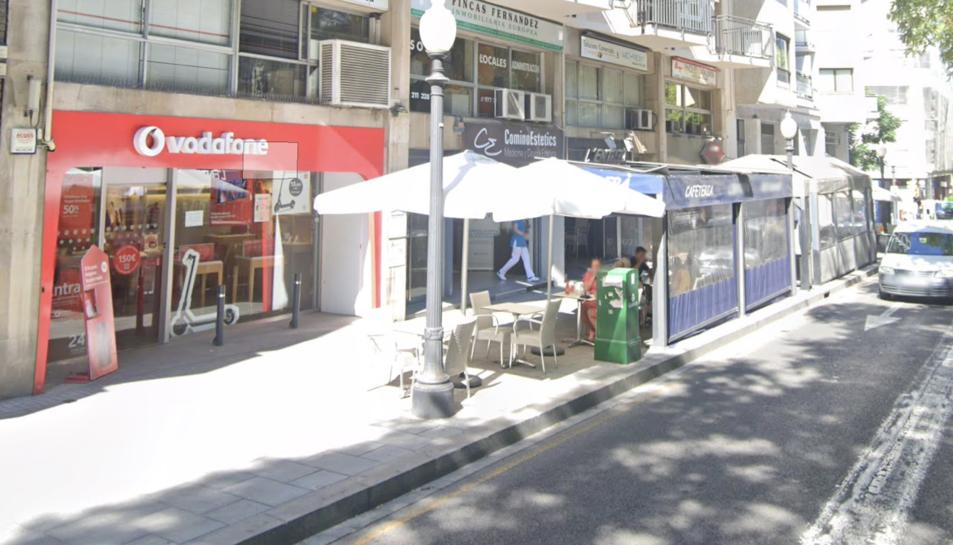 Botiga de Vodafone a la Rambla Nova de Tarragona.