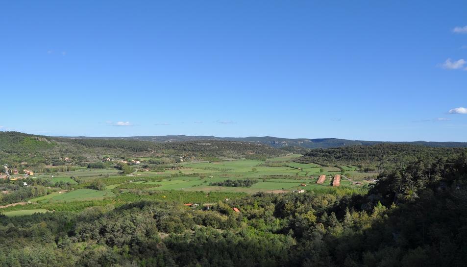 Imatge de l'entorn del municipi de Prades, al baix Camp.
