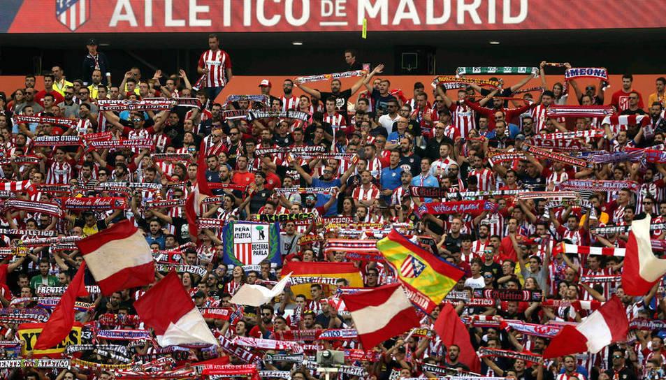 Afició al Wanda Metropolitano.