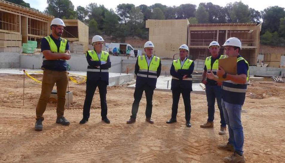 L'alcalde Granados ha visitat les obres aquest matí.