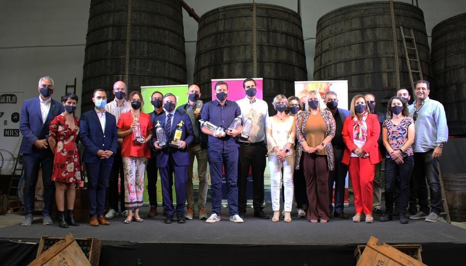 Imatge de la gala dels Premis Vinari 2021 celebrada al restaurant Vermuts Rofes ahir.