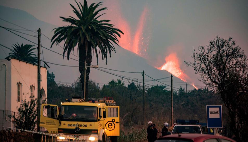 Imatge de l'erupció.