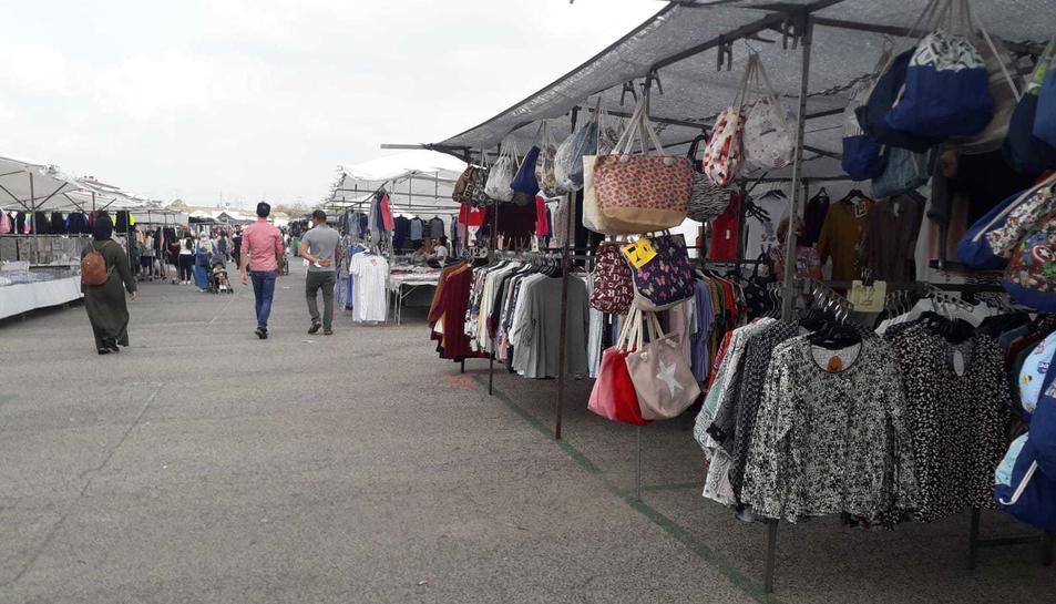 Imatge del mercat de Bonavista durant la jornada d'aquest diumenge.